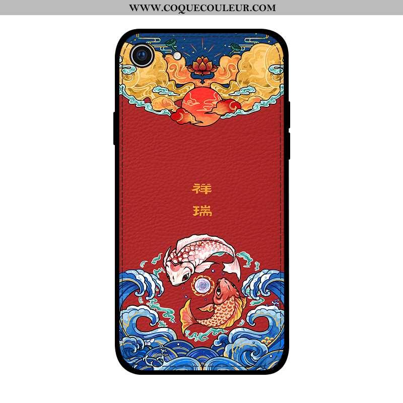 Coque iPhone Se (nouveau) Cuir Gaufrage Téléphone Portable, Housse iPhone Se (nouveau) Modèle Fleuri