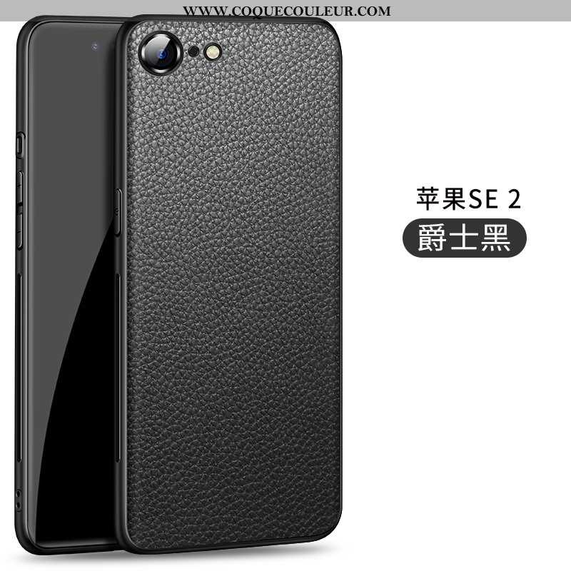 Coque iPhone Se (nouveau) Ultra Modèle Fleurie Silicone, Housse iPhone Se (nouveau) Légère Noir