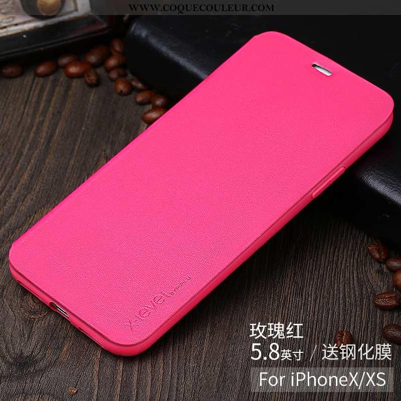 Coque iPhone X Protection Incassable Ultra, Housse iPhone X Personnalité Tendance Rose