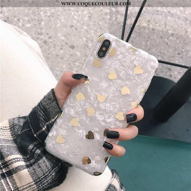 Étui iPhone X Fluide Doux Or, Coque iPhone X Blanc Blanche
