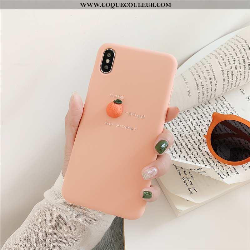 Housse iPhone X Fluide Doux Petit Créatif, Étui iPhone X Silicone Nouveau Rose