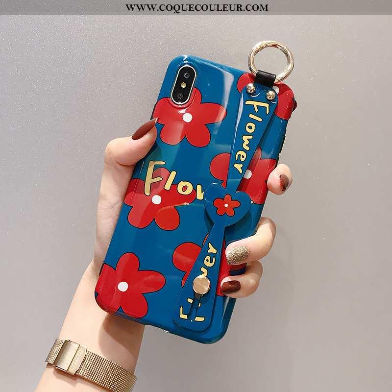 Étui iPhone X Protection Silicone Anneau, Coque iPhone X Créatif Support Rouge