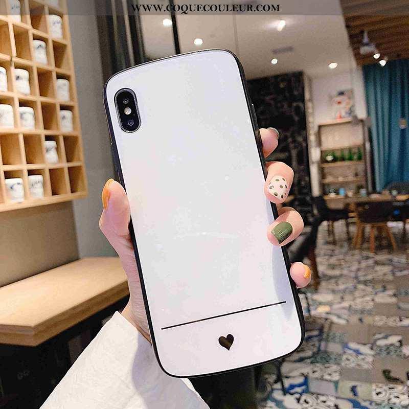 Housse iPhone X Créatif Étui Simple, iPhone X Tendance Couleur Unie Blanche