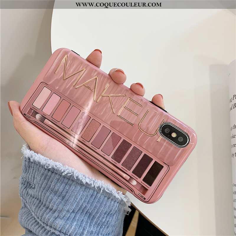 Étui iPhone X Créatif Rose Fluide Doux, Coque iPhone X Tendance Téléphone Portable