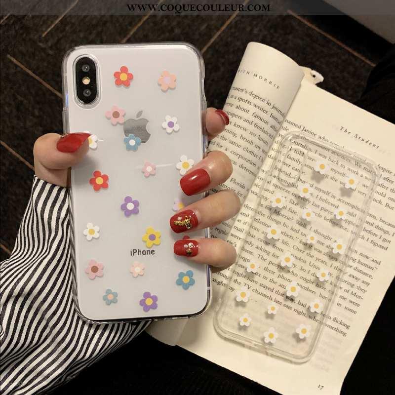 Étui iPhone X Silicone Téléphone Portable Blanc, Coque iPhone X Transparent Incassable Blanche