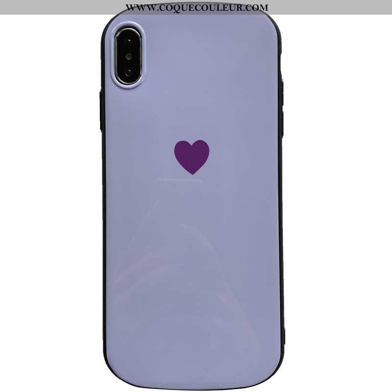 Housse iPhone X Protection Étui Téléphone Portable, iPhone X Personnalité Silicone Violet