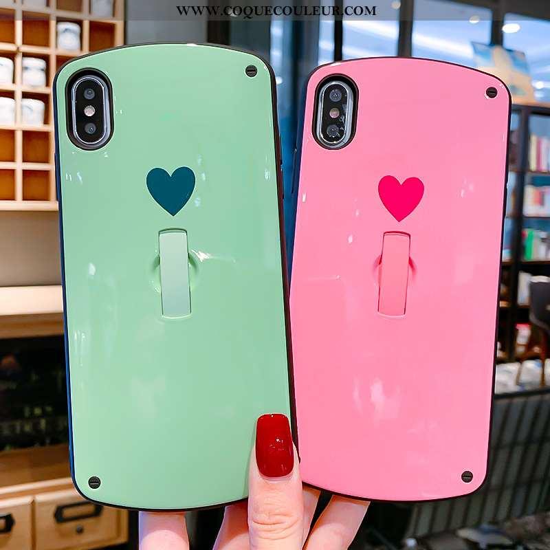 Coque iPhone X Créatif Support Tout Compris, Housse iPhone X Tendance Amour Rose
