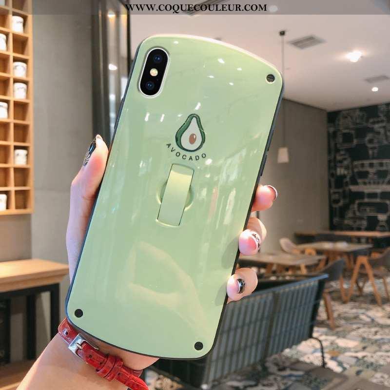 Étui iPhone X Personnalité Coque Vert, iPhone X Créatif Téléphone Portable Verte