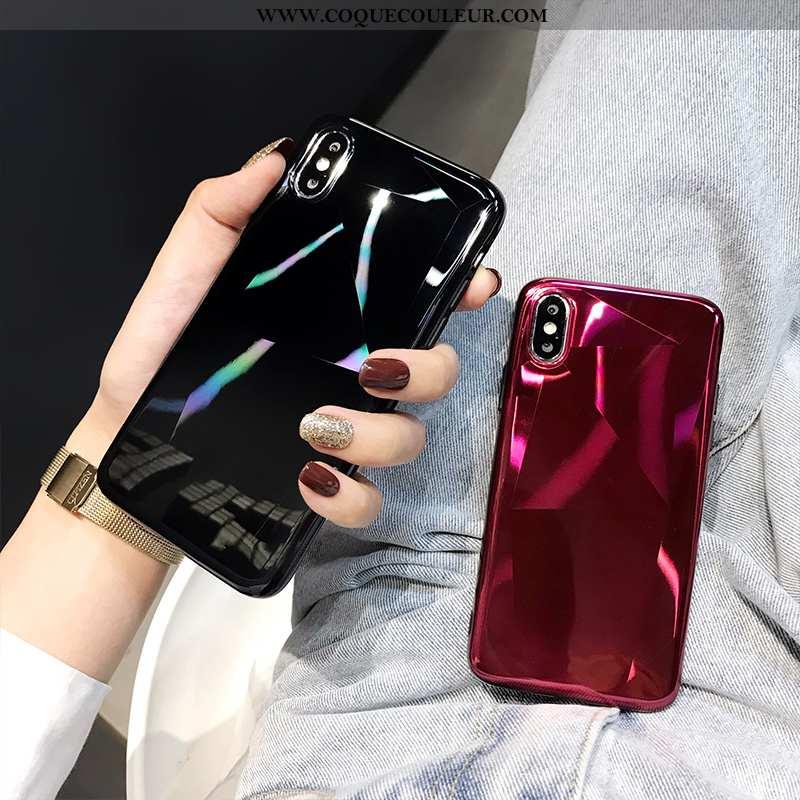 Coque iPhone X Protection Mode Géométrie, Housse iPhone X Luxe Téléphone Portable Rouge