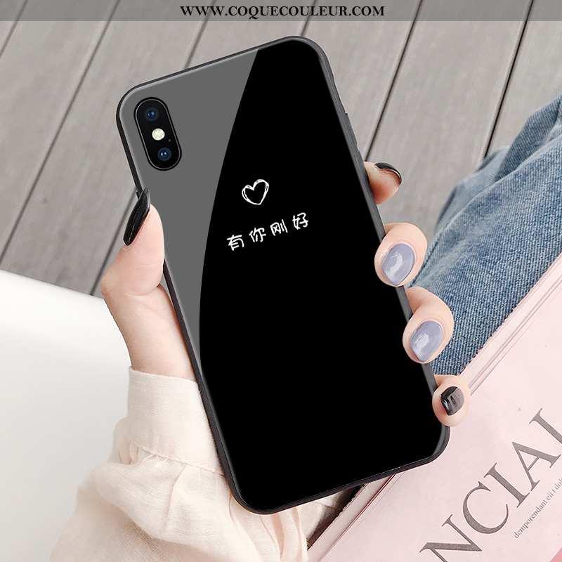 Coque iPhone X Créatif Personnalité Noir, Housse iPhone X Tendance Net Rouge Noir
