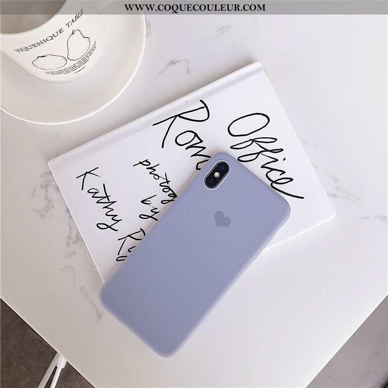 Coque iPhone X Fluide Doux Tout Compris Petit, Housse iPhone X Silicone Étui Bleu