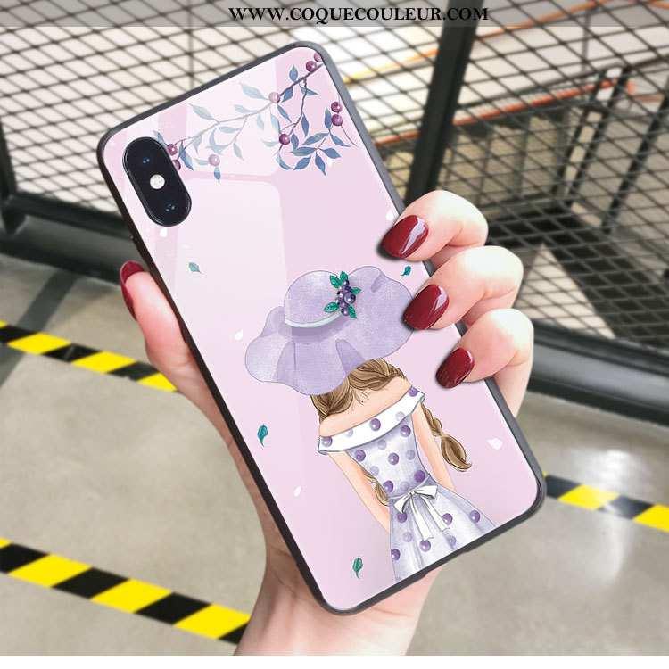 Coque iPhone X Personnalité Téléphone Portable Légère, Housse iPhone X Ultra Incassable Rose