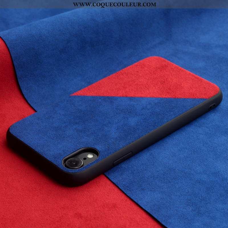 Coque iPhone Xr Protection Épissure Tendance, Housse iPhone Xr Créatif Téléphone Portable Bleu