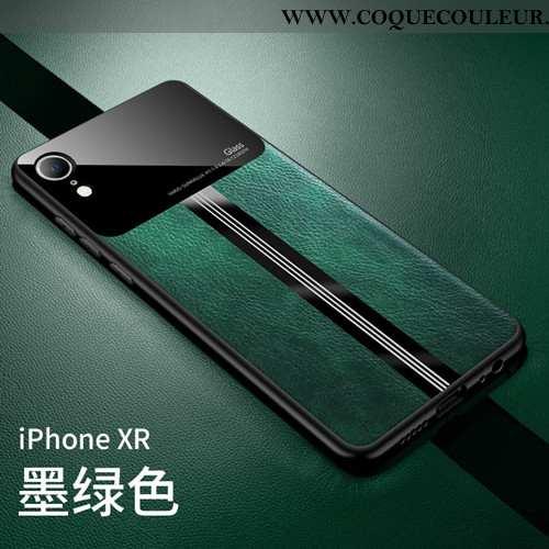 Coque iPhone Xr Ultra Étui Modèle Fleurie, Housse iPhone Xr Légère Difficile Turquoise