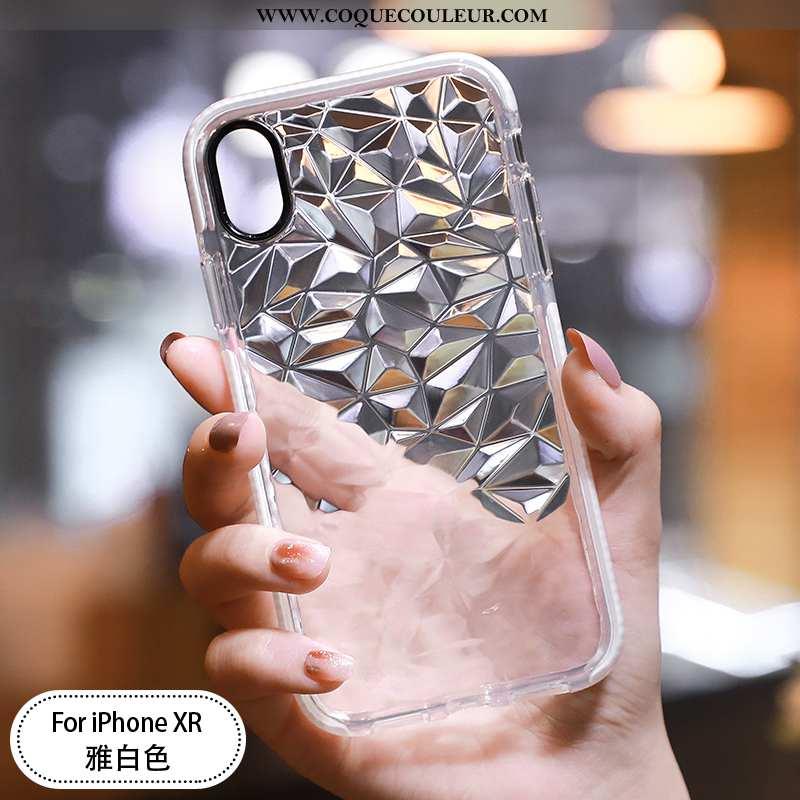 Étui iPhone Xr Tendance Incassable Coque, Coque iPhone Xr Légère Ultra Blanche