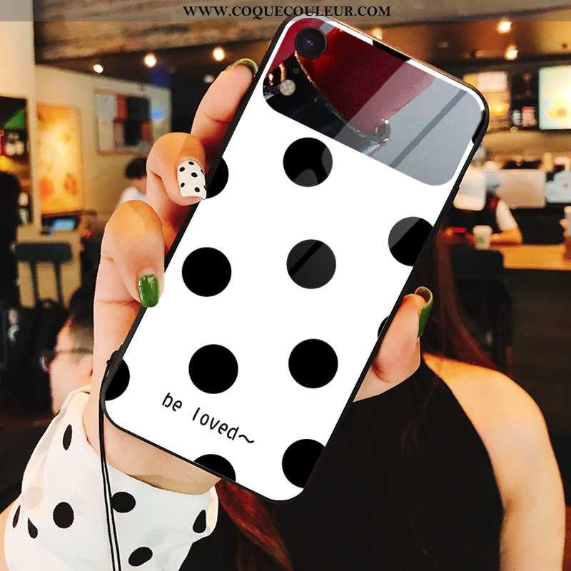 Housse iPhone Xr Verre Noir Téléphone Portable, Étui iPhone Xr Personnalité Coque