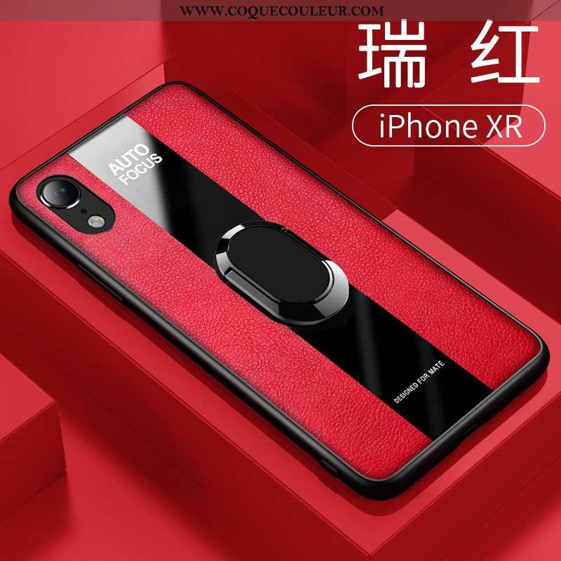Housse iPhone Xr Tendance Étui Incassable, iPhone Xr Légère Cuir Rouge