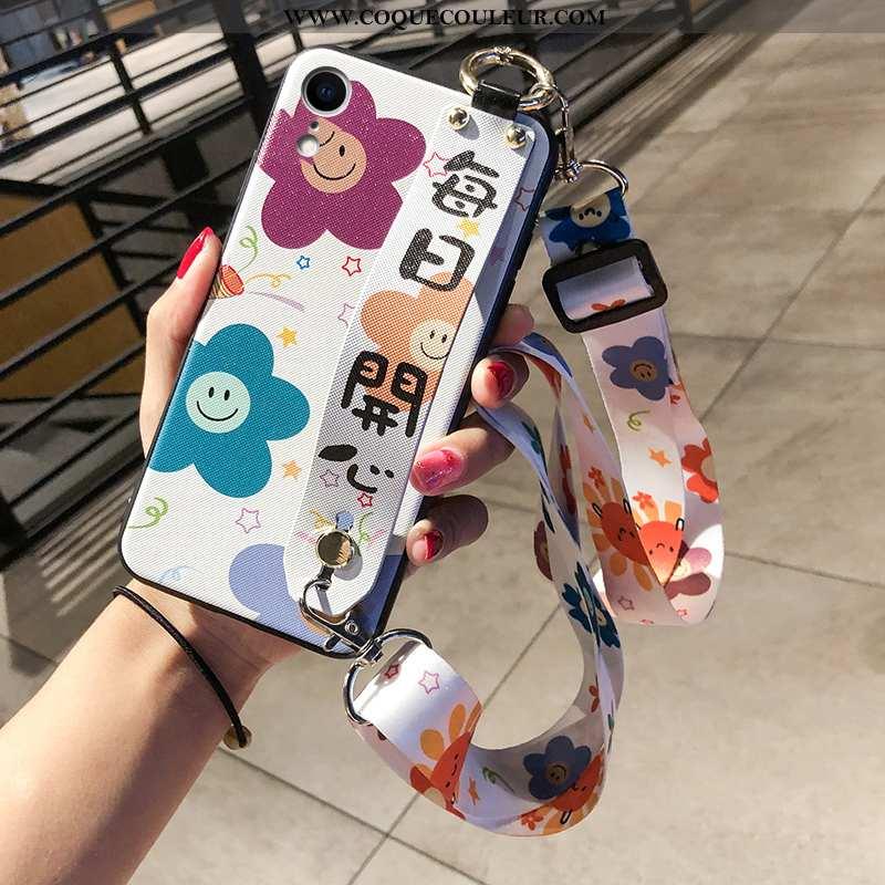 Coque iPhone Xr Ornements Suspendus Simple, Housse iPhone Xr Petit Cœur Violet