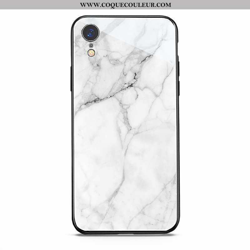 Housse iPhone Xr Verre Nouveau Amoureux, Étui iPhone Xr Protection Net Rouge Blanche