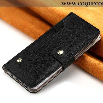 Housse iPhone Xr Portefeuille Incassable Téléphone Portable, Étui iPhone Xr Cuir Tout Compris Noir