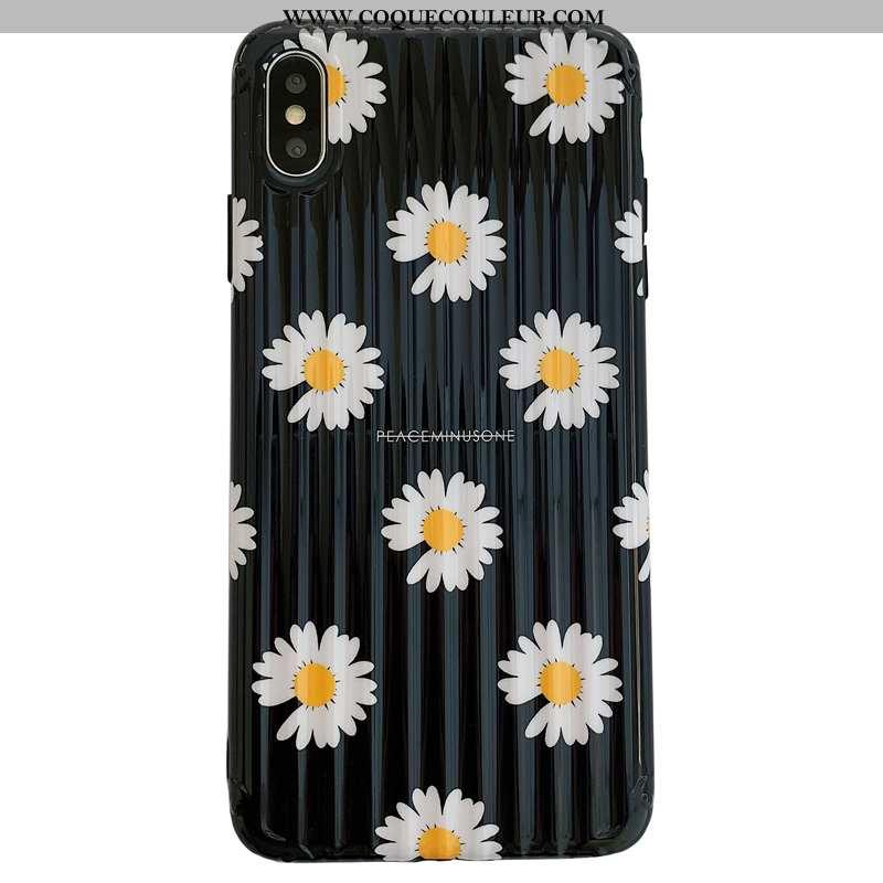Étui iPhone Xs Max Personnalité Noir Dimensionnel, Coque iPhone Xs Max Créatif