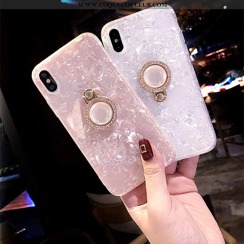 Housse iPhone Xs Max Silicone Net Rouge Téléphone Portable, Étui iPhone Xs Max Coque Tout Compris Ro