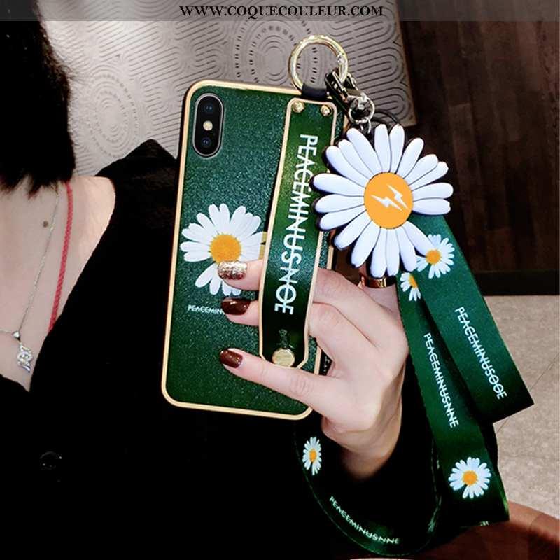 Housse iPhone Xs Max Personnalité Tendance Dragon, Étui iPhone Xs Max Créatif Luxe Verte