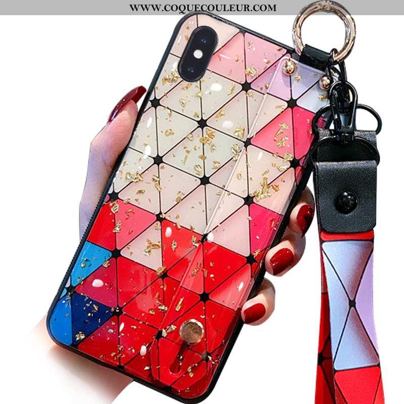 Housse iPhone Xs Max Cou Suspendu Multicolore Téléphone Portable, Étui iPhone Xs Max Fluide Doux Mod