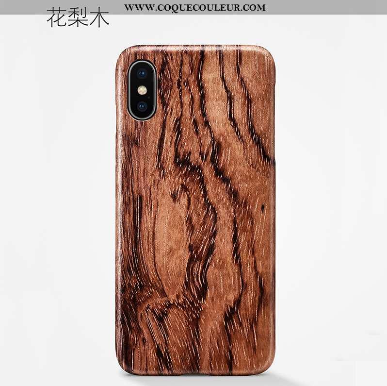 Coque iPhone Xs Max Légère Téléphone Portable Nouveau, Housse iPhone Xs Max Modèle Fleurie En Bois M