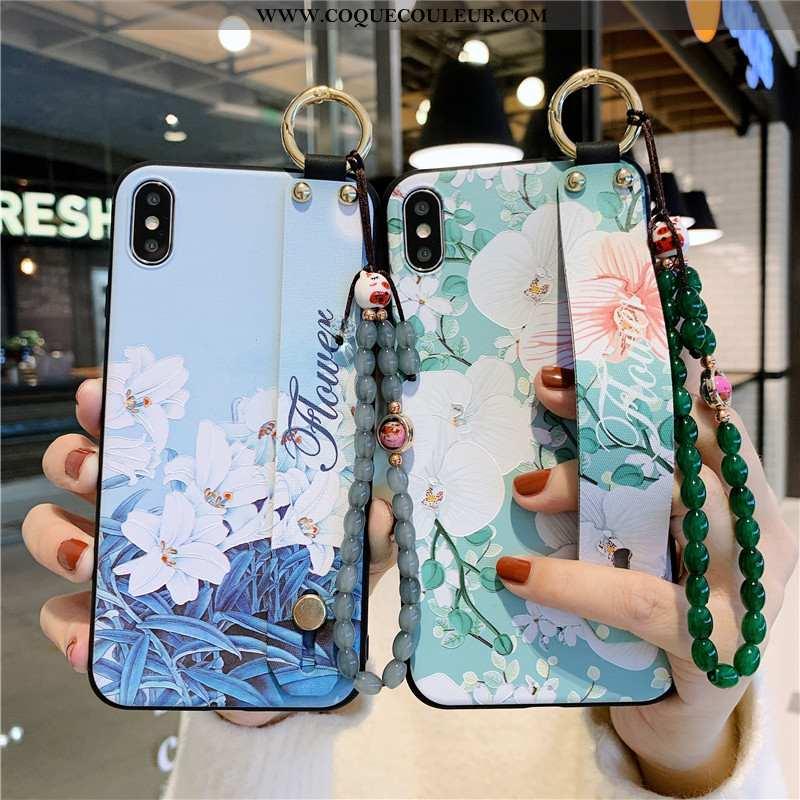 Coque iPhone Xs Max Protection Tout Compris Lis, Housse iPhone Xs Max Vintage Téléphone Portable Ver