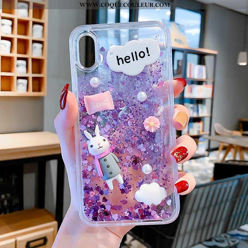 Coque iPhone Xs Dessin Animé Téléphone Portable, Housse iPhone Xs Difficile Enfant Violet