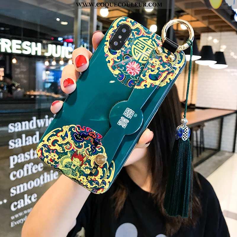 Coque iPhone Xs Téléphone Portable Bleu Incassable, Housse iPhone Xs Support Jeunesse