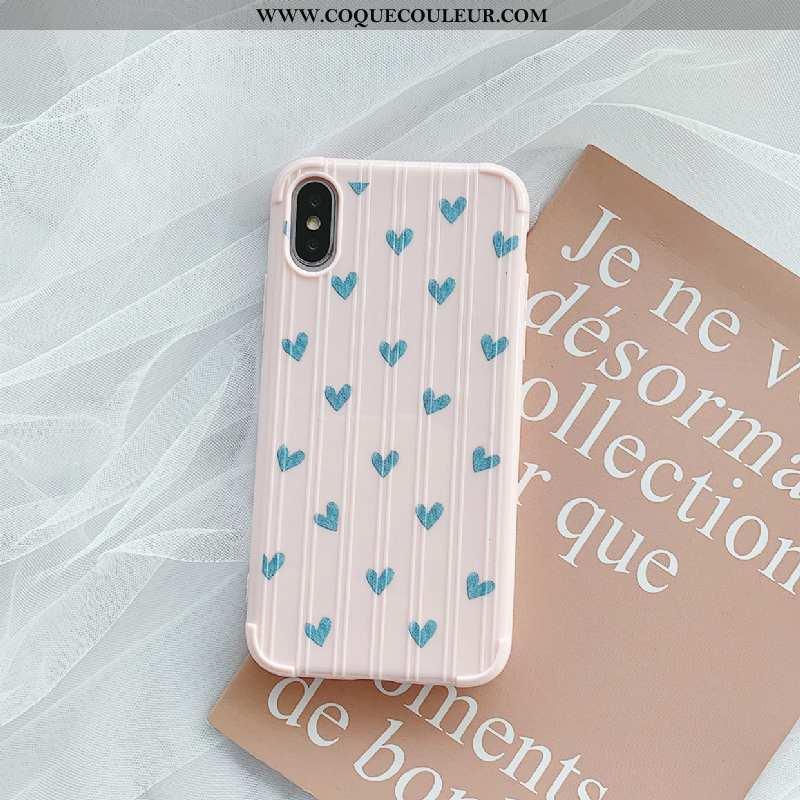 Coque iPhone Xs Protection Couleur Unie, Housse iPhone Xs Tendance Petit Blanche