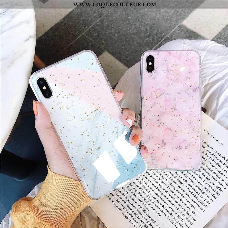 Étui iPhone Xs Tendance Coque Étui, iPhone Xs Protection Créatif Rose