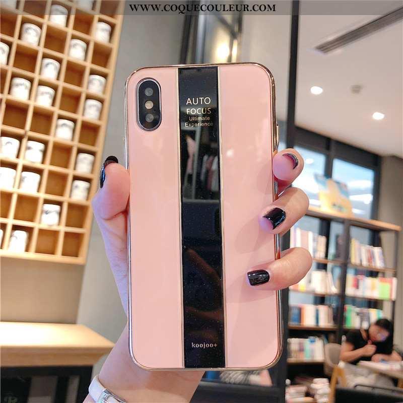 Housse iPhone Xs Ultra Fluide Doux Téléphone Portable, Étui iPhone Xs Légère Rose
