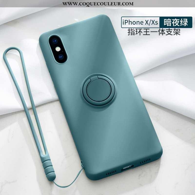 Étui iPhone Xs Ultra Vent Fluide Doux, Coque iPhone Xs Légère Clair Bleu