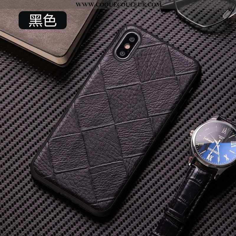 Coque iPhone Xs Ultra Refroidissement Créatif, Housse iPhone Xs Tendance Incassable Noir