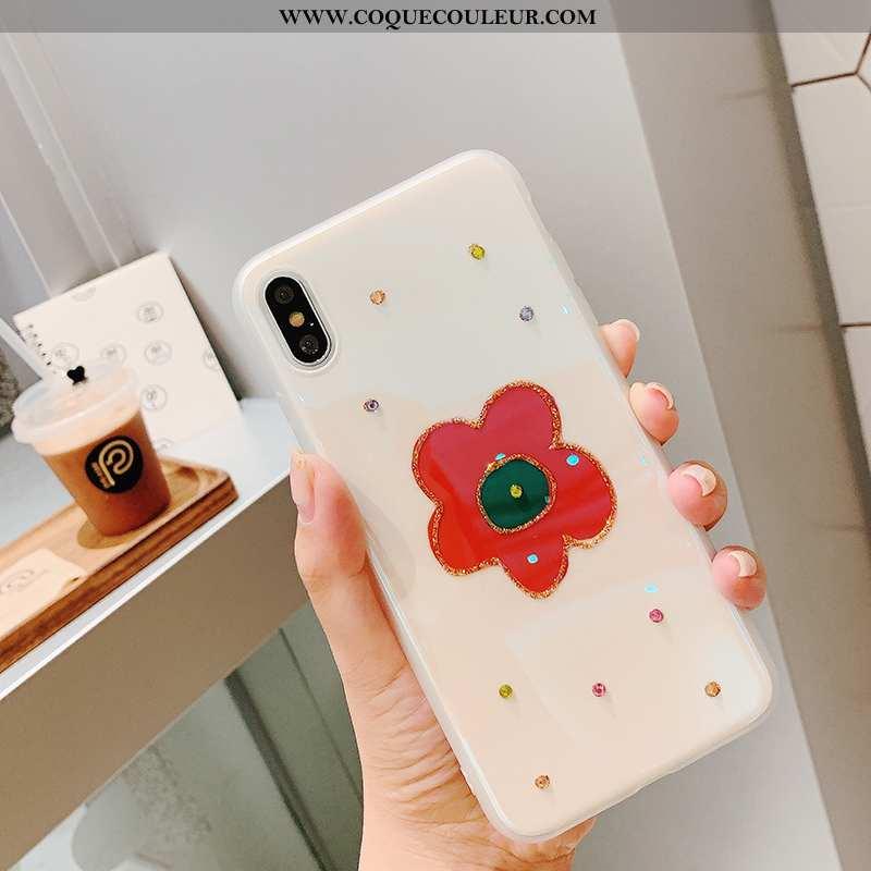 Étui iPhone Xs Charmant Coque Rouge, iPhone Xs Tendance Net Rouge
