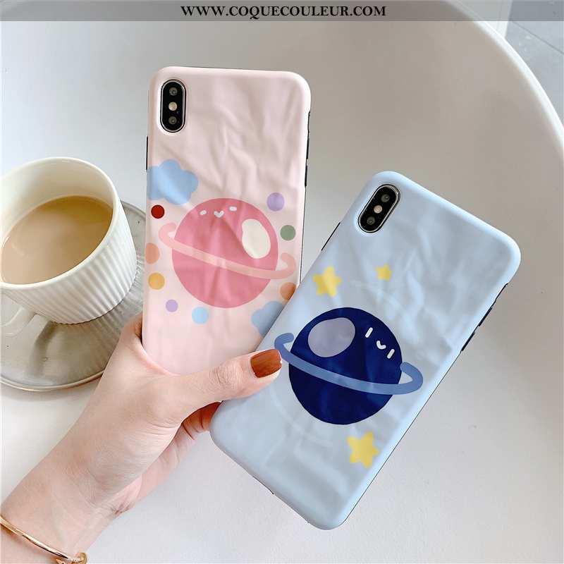 Étui iPhone Xs Modèle Fleurie Amoureux Planète, Coque iPhone Xs Protection Créatif Rose