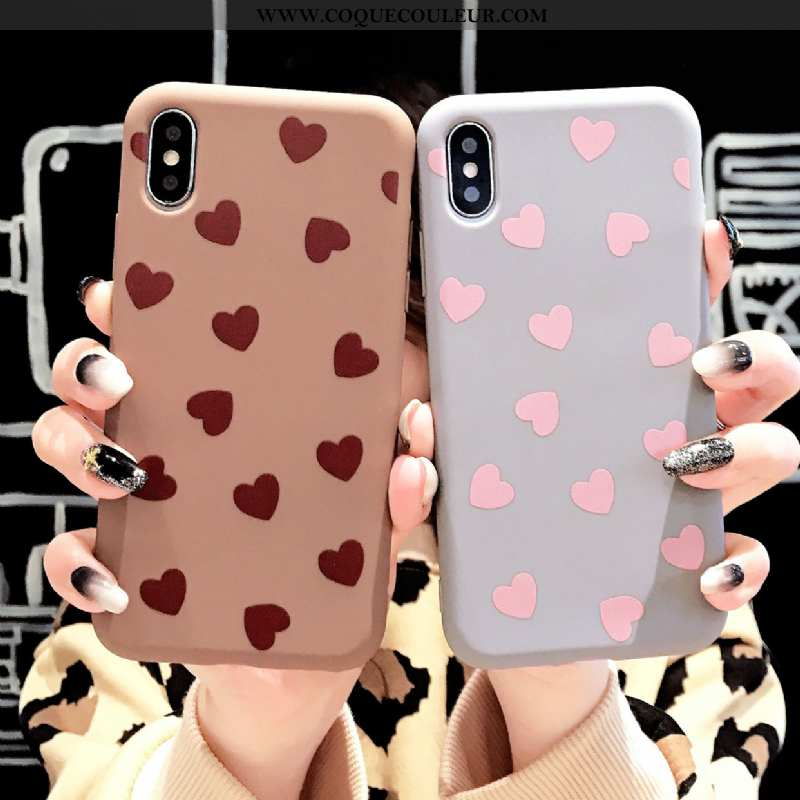 Housse iPhone Xs Tendance Tout Compris Net Rouge, Étui iPhone Xs Fluide Doux Bleu