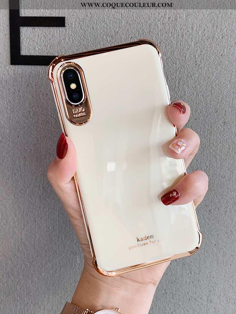 Coque iPhone Xs Tendance Tout Compris Net Rouge, Housse iPhone Xs Silicone Créatif Blanche