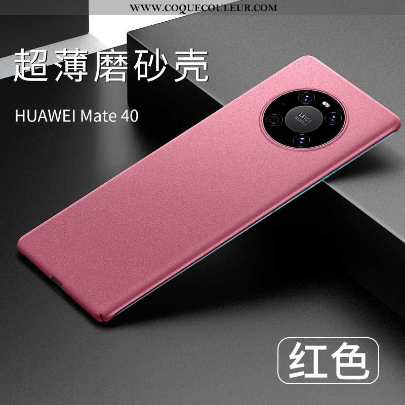 Étui Huawei Mate 40 Ultra Protection Nouveau, Coque Huawei Mate 40 Légère Rouge