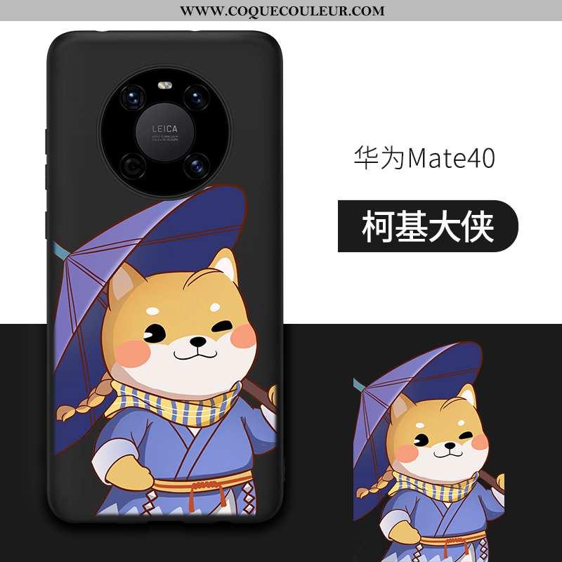 Coque Huawei Mate 40 Silicone Tout Compris Noir, Housse Huawei Mate 40 Incassable Noir