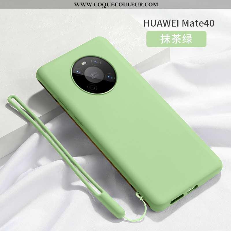 Étui Huawei Mate 40 Légère Ultra Étui, Coque Huawei Mate 40 Silicone Téléphone Portable Verte