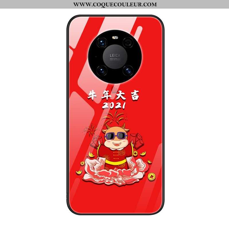 Étui Huawei Mate 40 Pro Légère Ultra Tout Compris, Coque Huawei Mate 40 Pro Protection Luxe Rouge