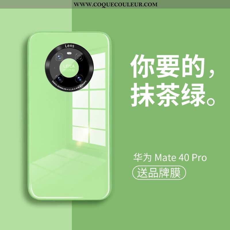 Coque Huawei Mate 40 Pro Ultra Luxe Silicone, Housse Huawei Mate 40 Pro Légère Étui Verte