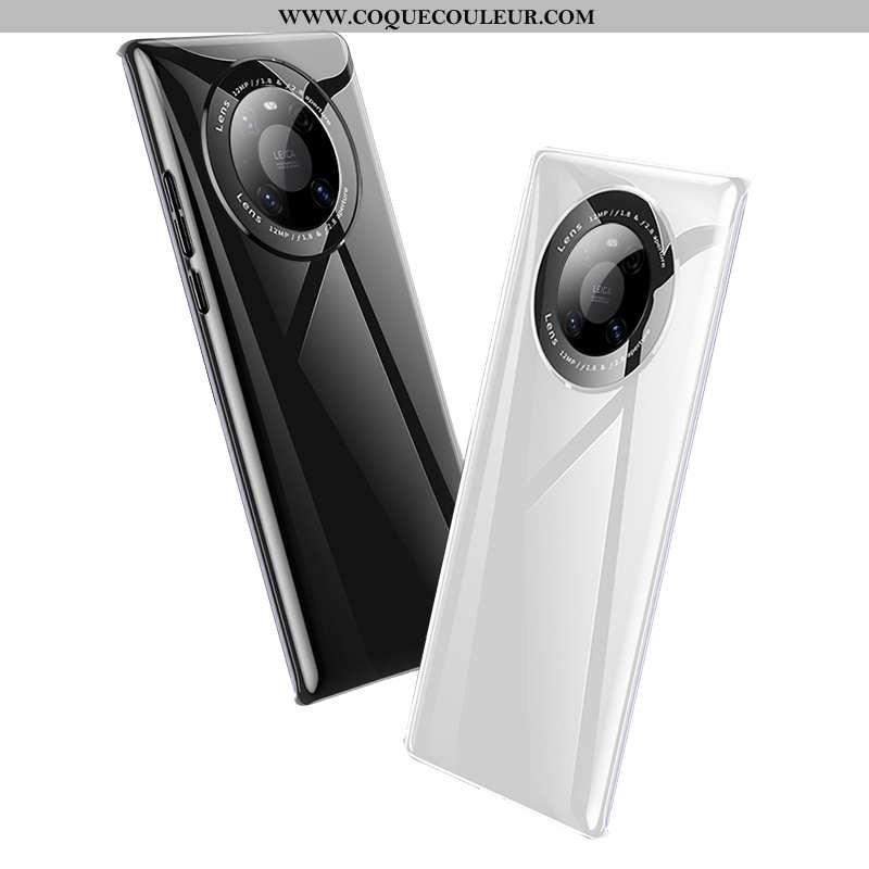 Housse Huawei Mate 40 Pro Verre Net Rouge Nouveau, Étui Huawei Mate 40 Pro Ultra Miroir Blanche