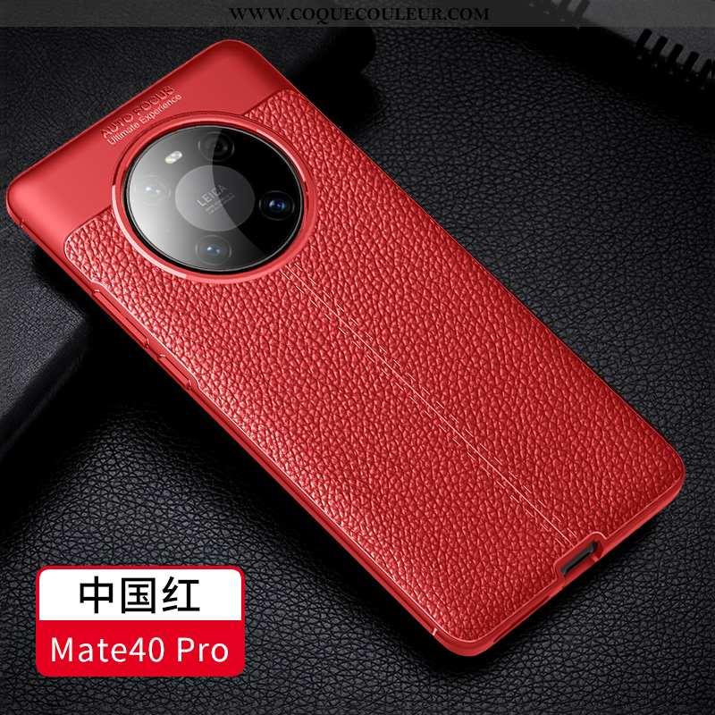 Housse Huawei Mate 40 Pro Protection Coque Modèle Fleurie, Étui Huawei Mate 40 Pro Personnalité Cuir