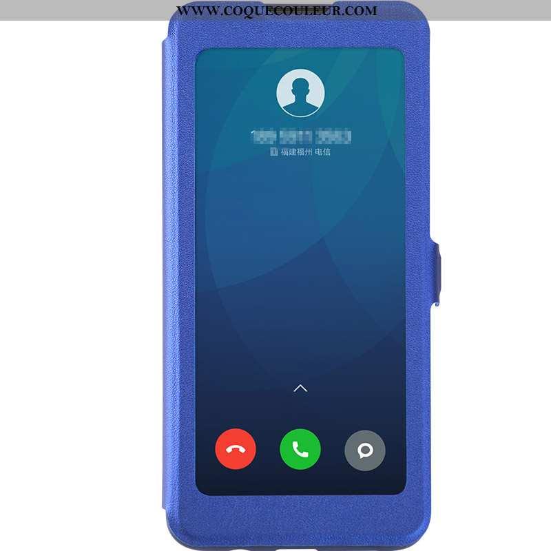 Étui Xiaomi Redmi 9 Protection Téléphone Portable Clamshell, Coque Xiaomi Redmi 9 Cuir Rouge Bleu