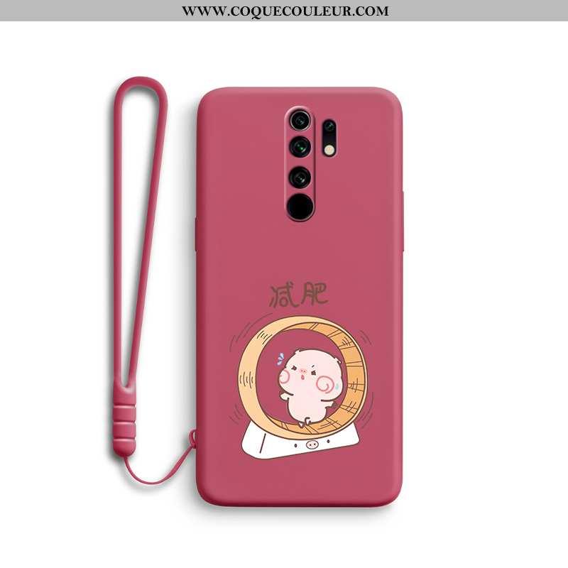 Étui Xiaomi Redmi 9 Tendance Personnalité Coque, Coque Xiaomi Redmi 9 Légère Tout Compris Rouge